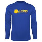Performance Royal Longsleeve Shirt-Lions w/ Lion Head