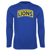Performance Royal Longsleeve Shirt-Mountain View College Lions in Box