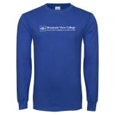 Royal Long Sleeve T Shirt-Primary Mark - Horizontal