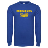 Royal Long Sleeve T Shirt-Mountain View College Est 1970