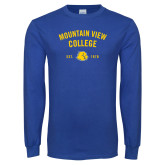 Royal Long Sleeve T Shirt-Mountain View Lions Arched