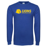 Royal Long Sleeve T Shirt-Lions w/ Lion Head