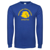 Royal Long Sleeve T Shirt-Mountain View College Athletics Arched