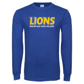 Royal Long Sleeve T Shirt-Lions Mountain View College Stocked