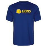 Performance Royal Tee-Lions w/ Lion Head