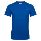 Royal T Shirt w/Pocket-Primary Mark - Horizontal