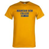 Gold T Shirt-Mountain View College Est 1970