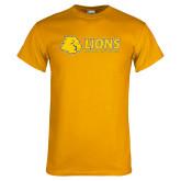 Gold T Shirt-Lions w/ Lion Head