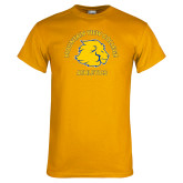 Gold T Shirt-Mountain View College Athletics Arched
