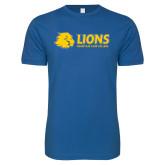 Next Level SoftStyle Royal T Shirt-Lions w/ Lion Head
