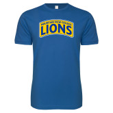 Next Level SoftStyle Royal T Shirt-Mountain View College Lions in Box