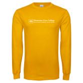 Gold Long Sleeve T Shirt-Primary Mark - Horizontal