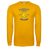 Gold Long Sleeve T Shirt-Mountain View Lions Est 1970
