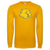 Gold Long Sleeve T Shirt-Lion Head