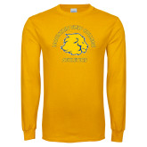 Gold Long Sleeve T Shirt-Mountain View College Athletics Arched