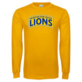 Gold Long Sleeve T Shirt-Mountain View College Lions in Box