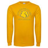Gold Long Sleeve T Shirt-Mens Basketball
