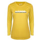 Ladies Syntrel Performance Gold Longsleeve Shirt-Skyline