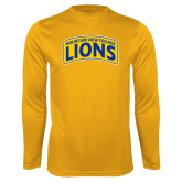 Performance Gold Longsleeve Shirt-Mountain View College Lions in Box
