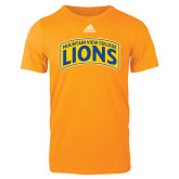 Adidas Gold Logo T Shirt-Mountain View College Lions in Box