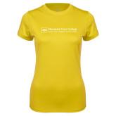 Ladies Syntrel Performance Gold Tee-Primary Mark - Horizontal