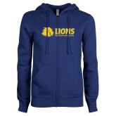 ENZA Ladies Royal Fleece Full Zip Hoodie-Lions w/ Lion Head