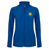Ladies Fleece Full Zip Royal Jacket-Mens Basketball