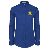 Ladies Royal Twill Button Down Long Sleeve-Womens Basketball
