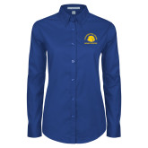 Ladies Royal Twill Button Down Long Sleeve-Womens Soccer