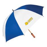 62 Inch Royal/White Vented Umbrella-Lions w/ Lion Head