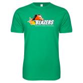 Next Level SoftStyle Kelly Green T Shirt-Athletic Mark
