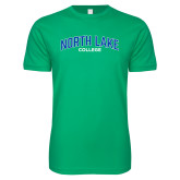 Next Level SoftStyle Kelly Green T Shirt-Arched