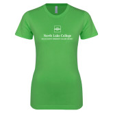 Next Level Ladies SoftStyle Junior Fitted Kelly Green Tee-Primary Mark