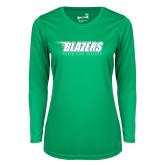 Ladies Syntrel Performance Kelly Green Longsleeve Shirt-Blazers