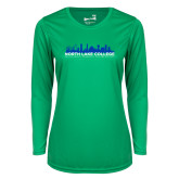 Ladies Syntrel Performance Kelly Green Longsleeve Shirt-Dallas Skyline