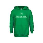 Youth Kelly Green Fleece Hoodie-Primary Mark