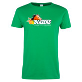 Ladies Kelly Green T Shirt-Athletic Mark