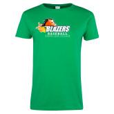 Ladies Kelly Green T Shirt-Baseball