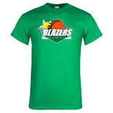 Kelly Green T Shirt-Blazers Stacked