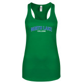Next Level Ladies Kelly Green Ideal Racerback Tank-Arched