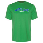 Performance Kelly Green Tee-Arched