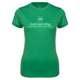 Ladies Syntrel Performance Kelly Green Tee-Primary Mark