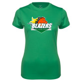 Ladies Syntrel Performance Kelly Green Tee-Blazers Stacked