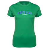 Ladies Syntrel Performance Kelly Green Tee-Arched