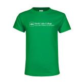 Youth Kelly Green T Shirt-Primary Mark - Horizontal