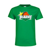 Youth Kelly Green T Shirt-Blazers Stacked