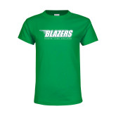 Youth Kelly Green T Shirt-Blazers