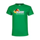 Youth Kelly Green T Shirt-Basketball