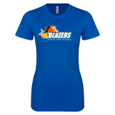 Next Level Ladies SoftStyle Junior Fitted Royal Tee-Athletic Mark