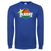 Royal Long Sleeve T Shirt-Blazers Stacked